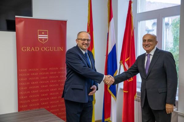 Grad Ogulin posjetio veleposlanik Republike Azerbajdžan