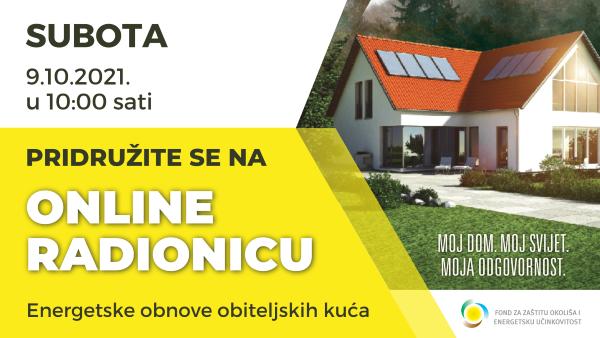 Energetska obnova obiteljskih kuća i zgrada.